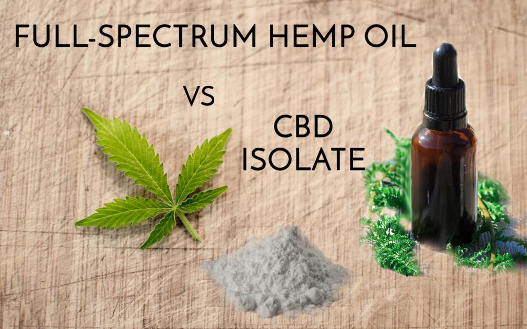 Wat is het verschil tussen CBD-olie en Full Spectrum-cannabis (hennep) olie?